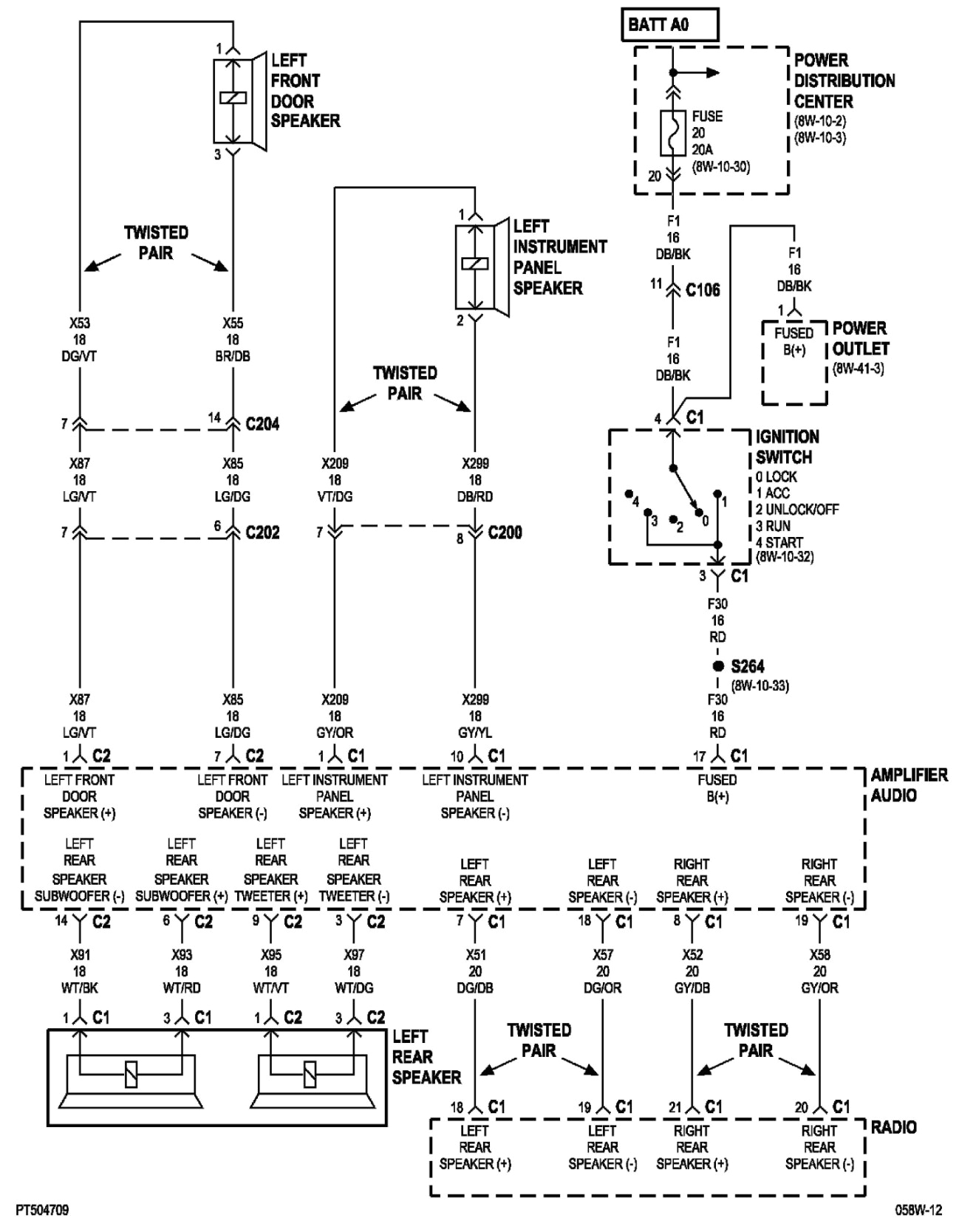 looking for a way to wire in an aftermarket radio to a 2005 pt2003 chrysler pt