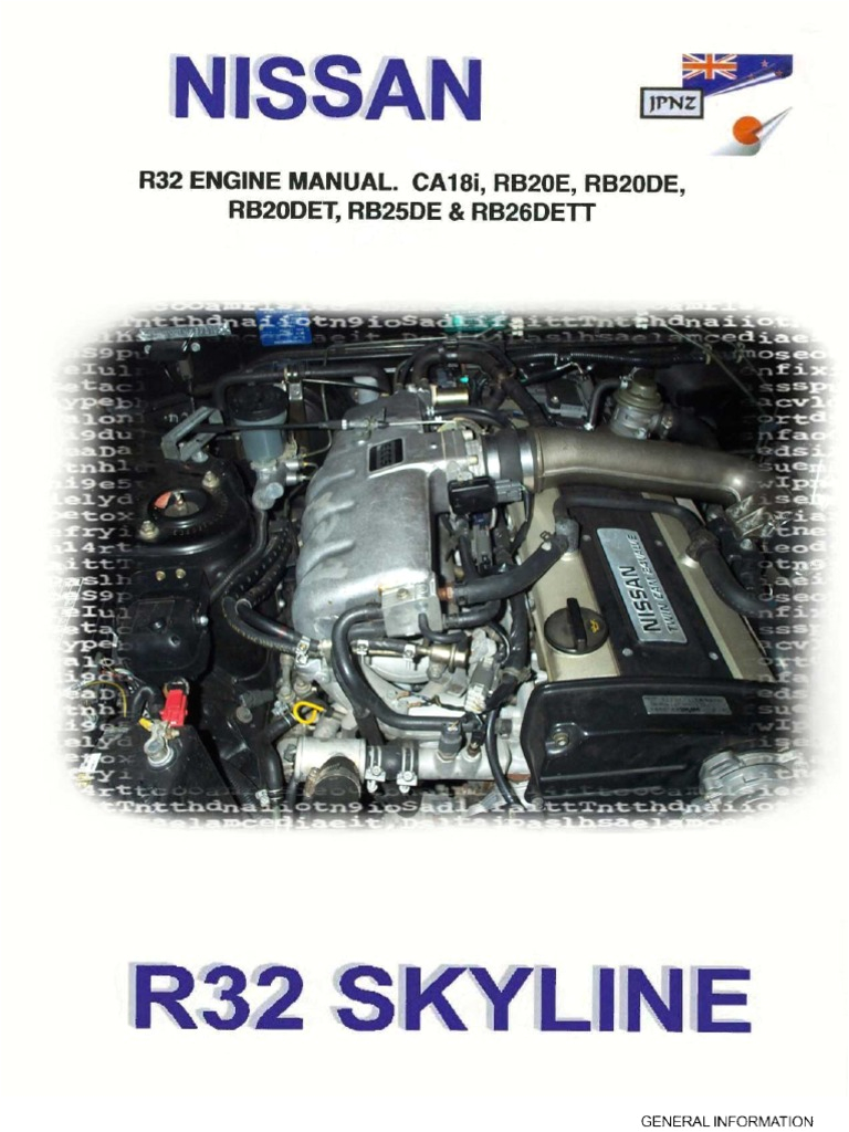 engine manual ca18i rb20e rb20de rb20det rb25de amp rb26dett throttle belt mechanical