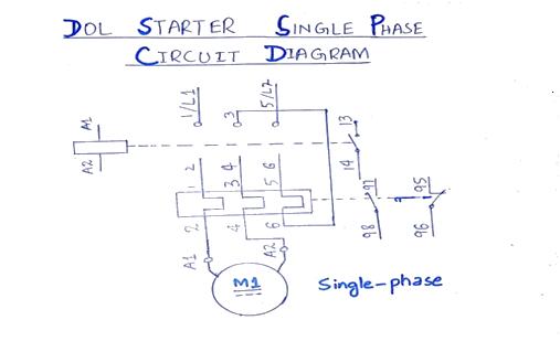dol single phase circuit diagram
