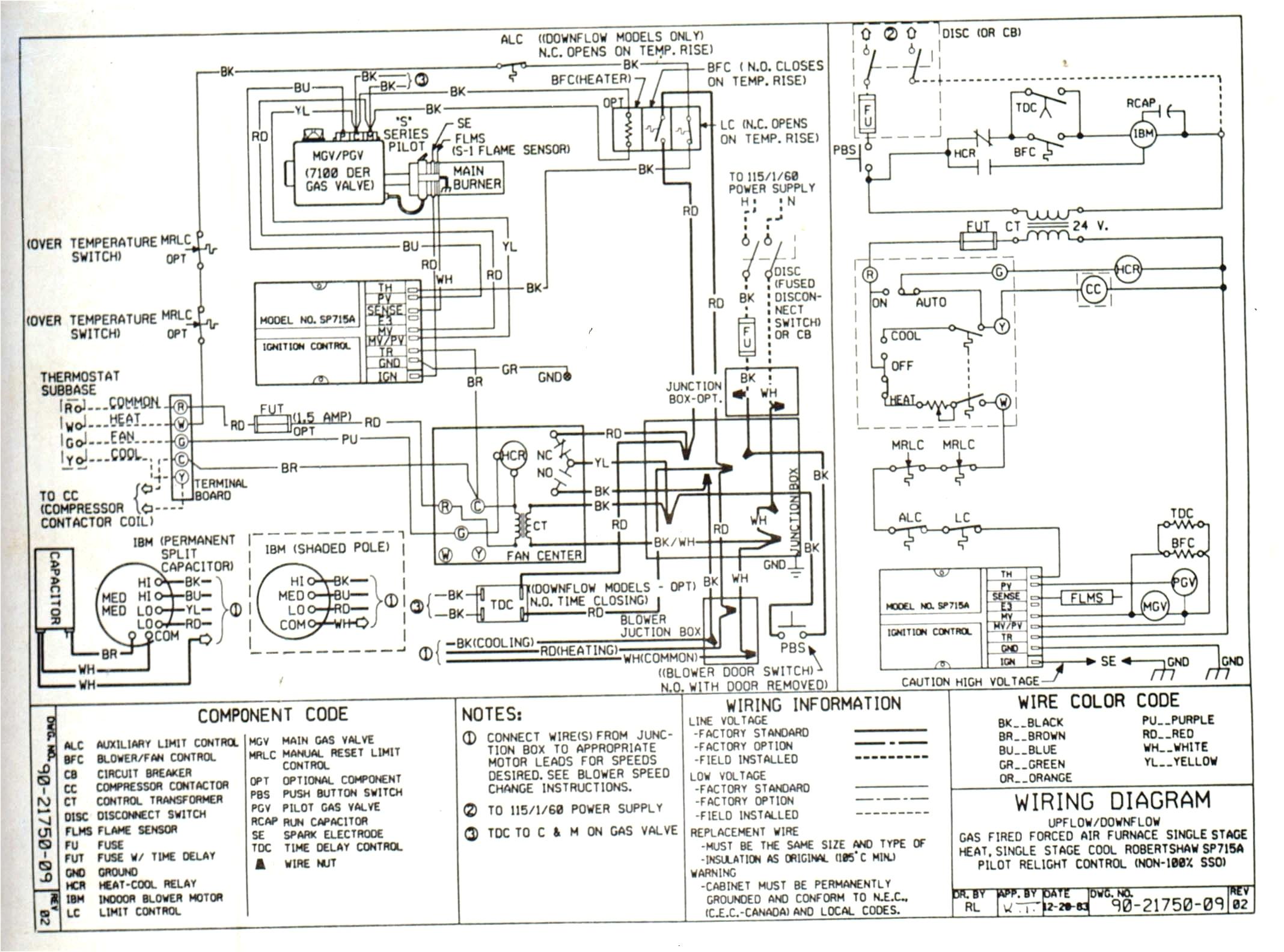 rheem heat pump thermostat wiring diagram