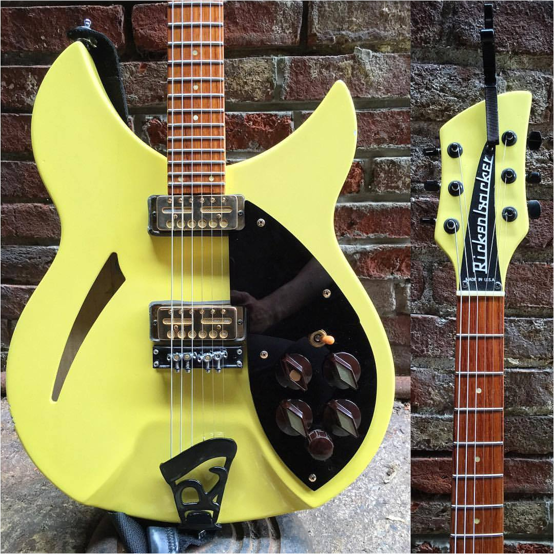 my favorite guitar on this short run with against me is laura s bumblebee rickenbacker