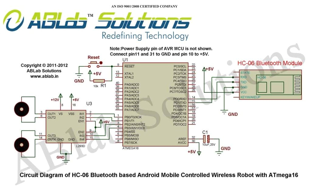 learn how to design a hc 06 bluetooth based android mobile controlled wireless robot with avr atmega16 microcontroller free download code circuit diagram