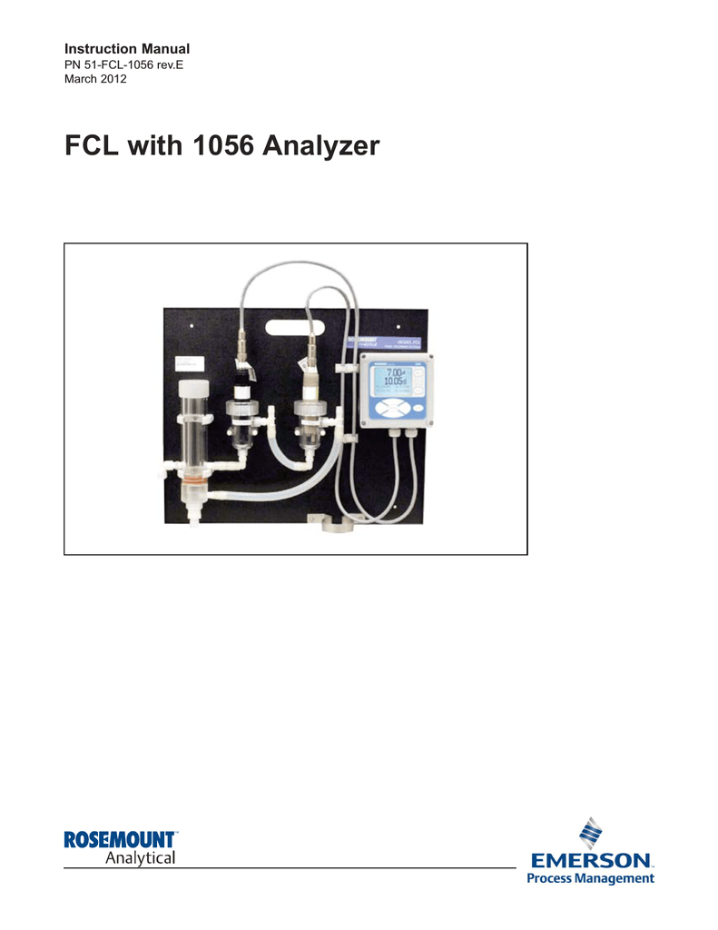 emerson fcl with 1050 analyzer 1056 instruction manual