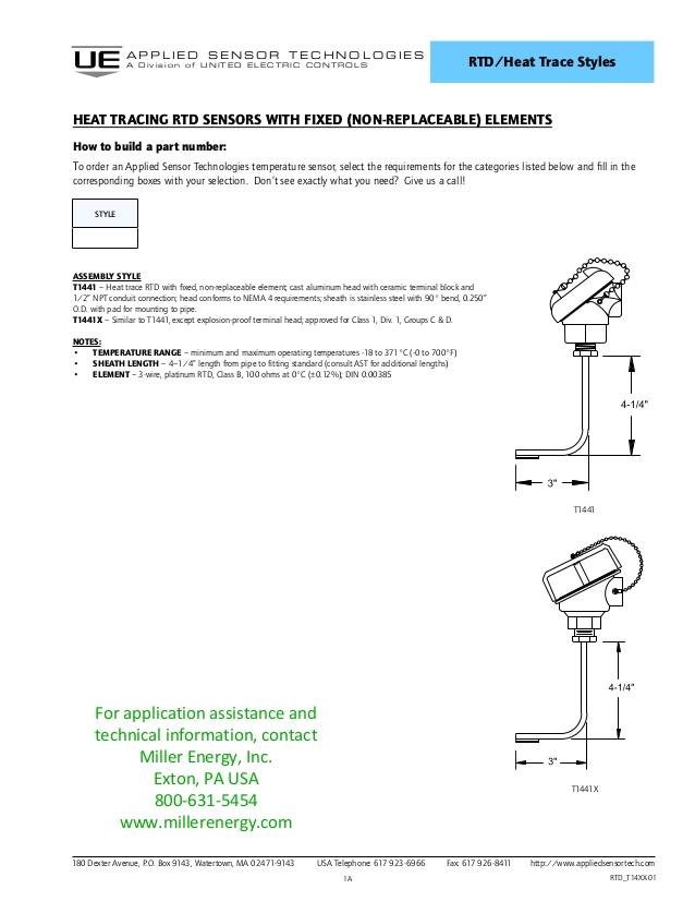 Rtd Transmitter Wiring Diagram Special Rtd Temperature Sensor Configuration for Heat Trace Applicati