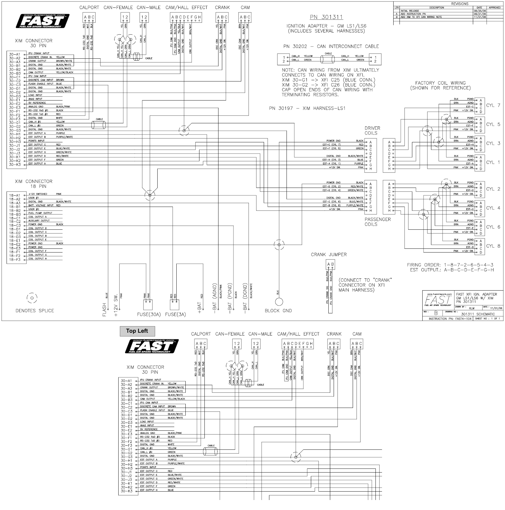 fast wiring diagrams fuelairspark comfast xfia ignition adapter gm ls2 ls7 with xima