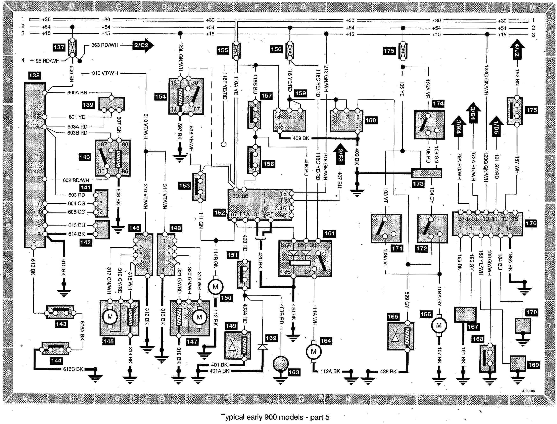 saab 20900 20wiring 20diagram 20 early 20models 20part 205 jpg