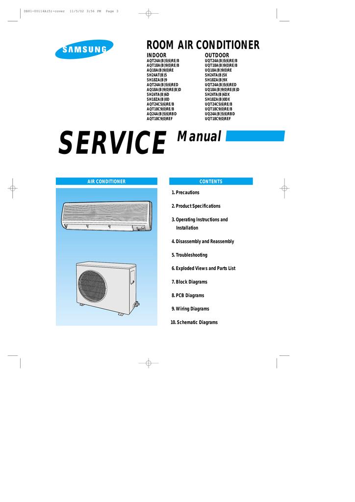 samsung aq18a series service manual