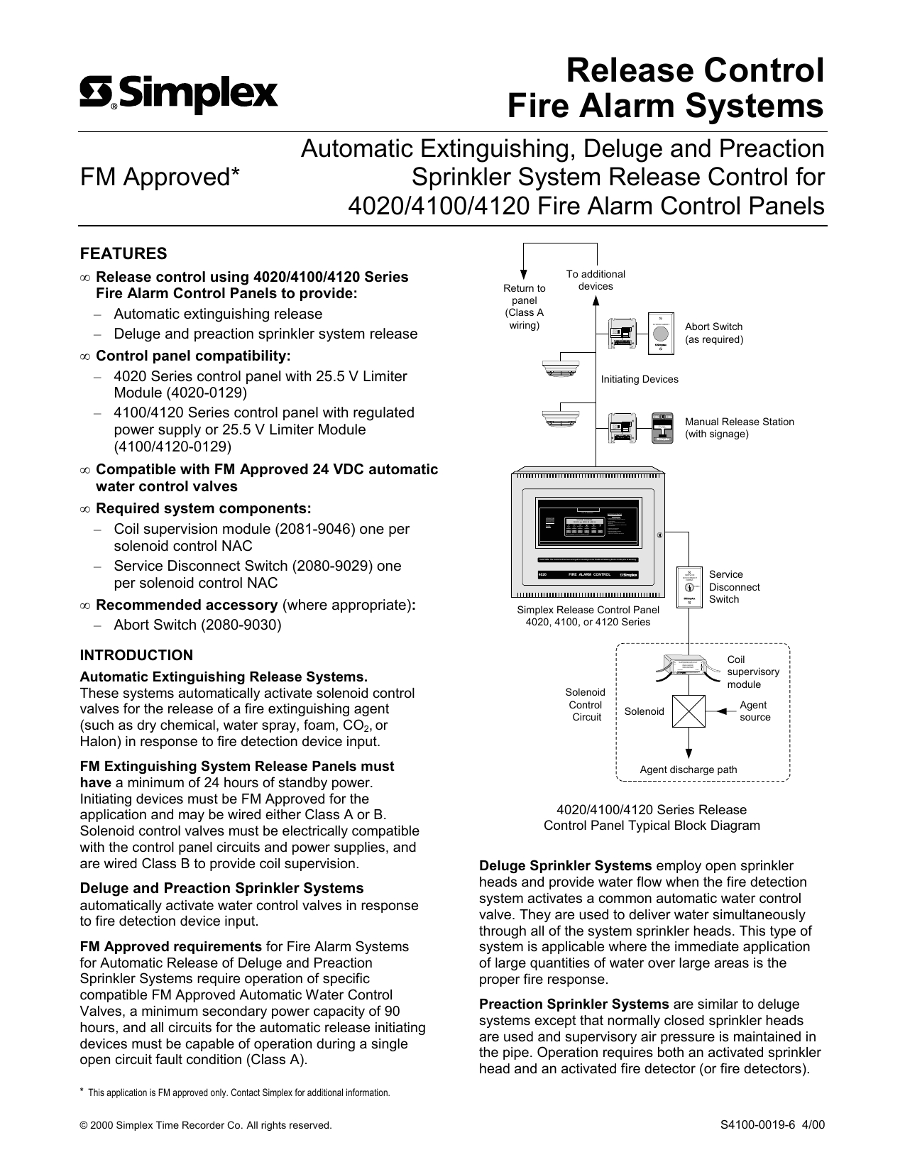 release control fire alarm systems