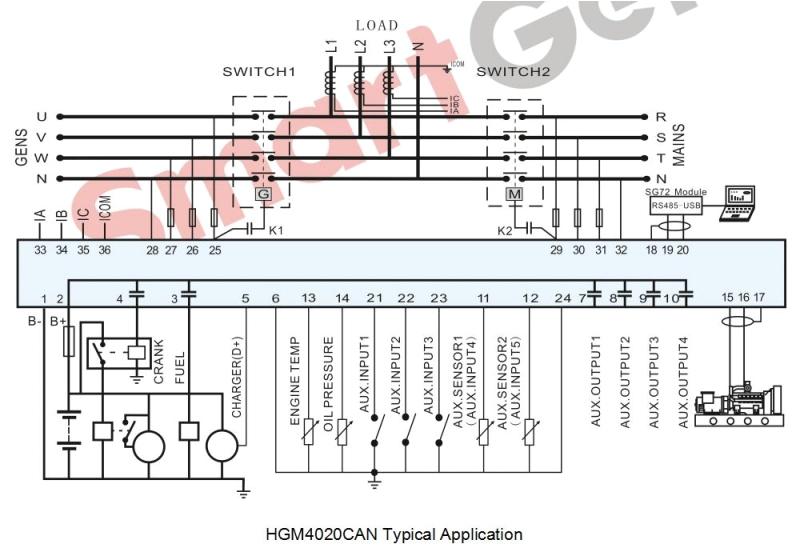 smartgen controller wiring diagram lovely smartgen hgm4020can generator controller 8 languages display amf