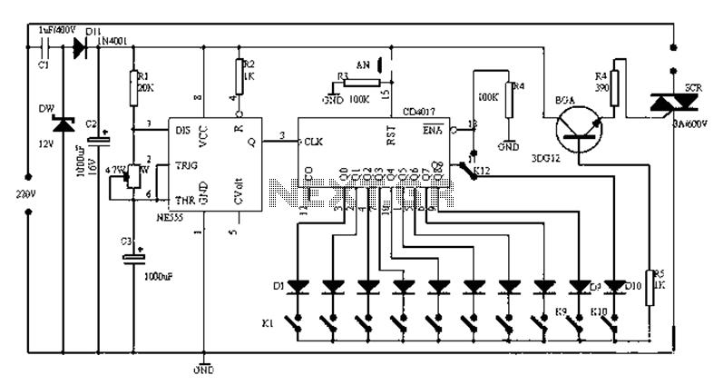 universal electronic timer circuit diagram