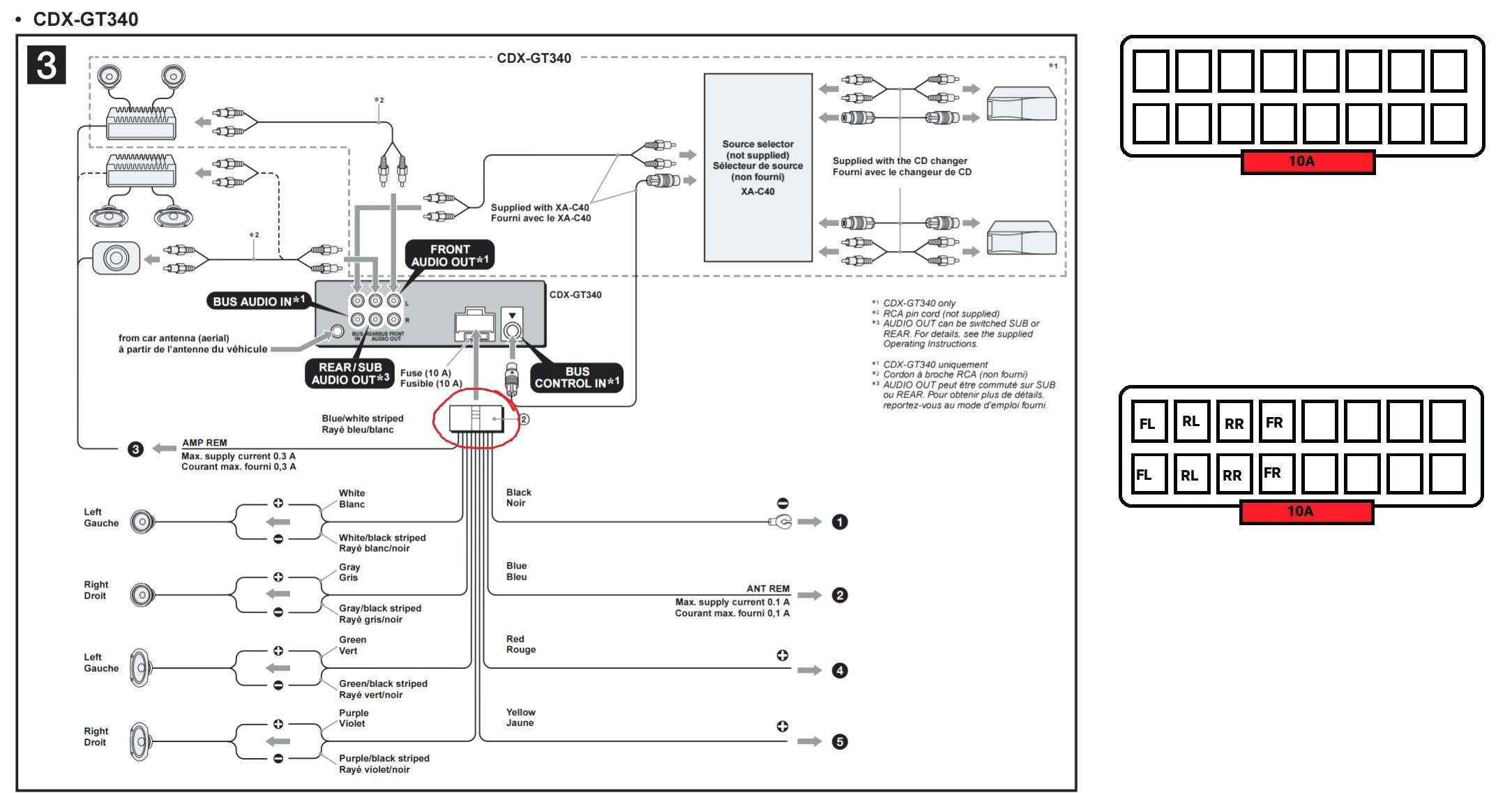 sony cdx gt340 wiring diagram