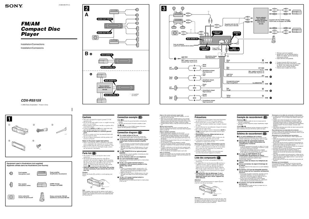 Sony Cdx Gt520 Wiring Diagram sony Stereo Wire Harness Diagram or sony Cdx Gt520 Wiring Diagram 29