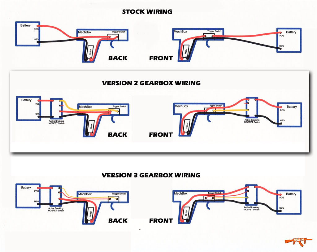 airsoft mosfet wiring diagram mos fet wiring diagram for