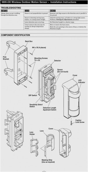 honeywell motion sensor wiring diagram