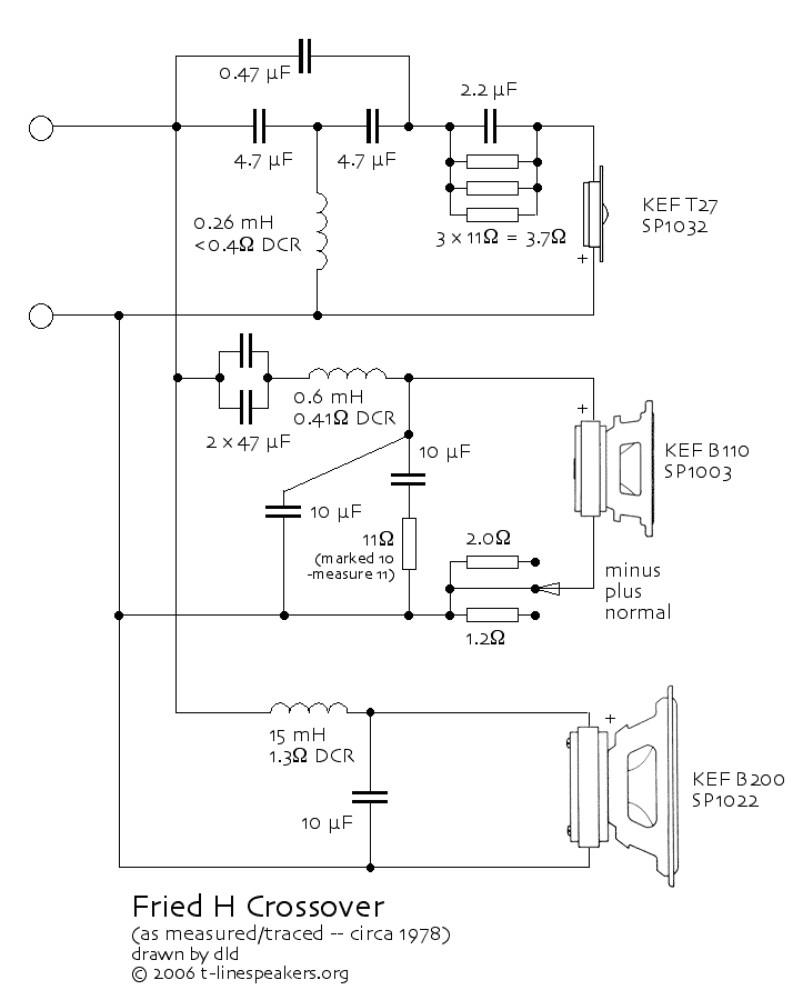 Speaker Crossover Wiring Diagram Fried Model H Loudspeaker In 2019 Hifi Amplifier Audio