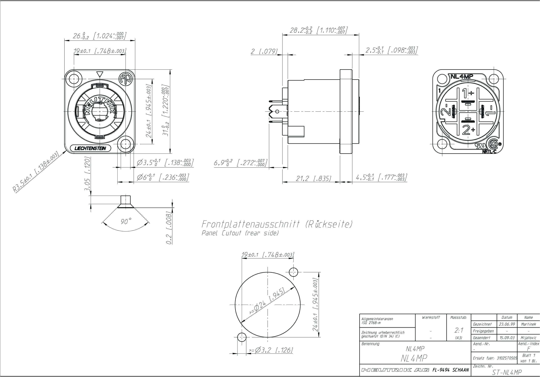 Speakon Nl4fx Wiring Diagram Neutrik Speakon Connector Wiring Diagram Wiring Diagram