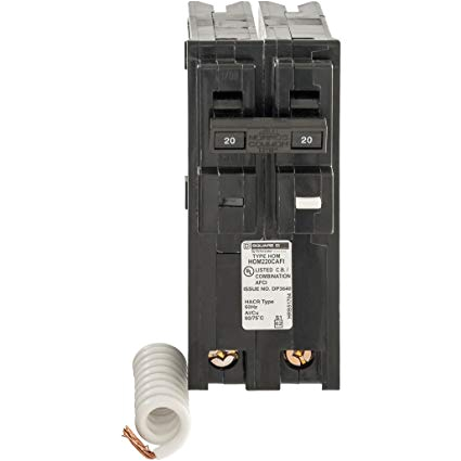 square d by schneider electric hom220cafic homeline 20 amp two pole cafci circuit breaker amazon com