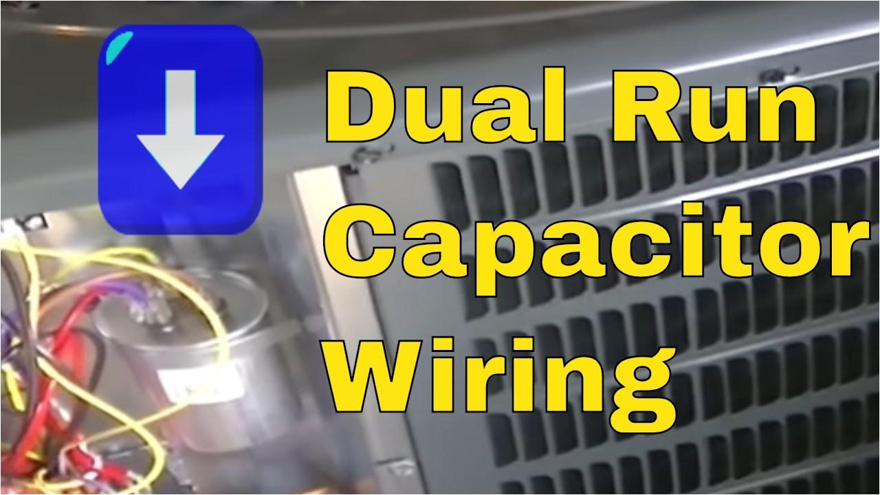 hvac training dual run capacitor wiring