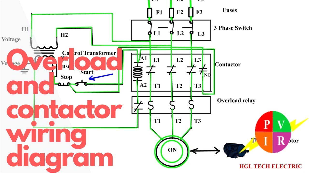 wiring 3 pole contactor wiring diagram sheethow to wire a contactor and overload start stop 3