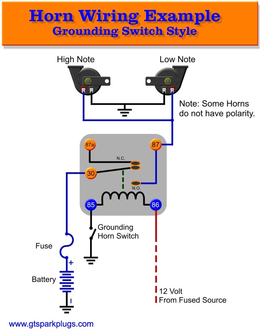 automotive horns gtsparkplugs basic horn wiring diagram