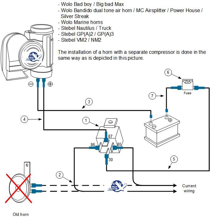 installation stebel nautilus series wolo bad boy wolo truck horn wolo bad boy wiring diagram