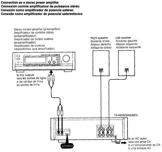 mono bei beiden modi springt der verstarker nach einschalten fur einen bruchteil der sekunde auf entweder stereo od mono um danach sofort auf protection