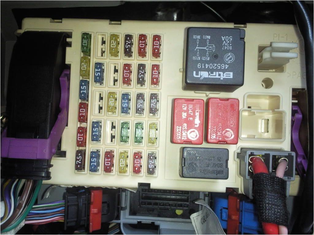 fiat punto fuse box diagram 2008