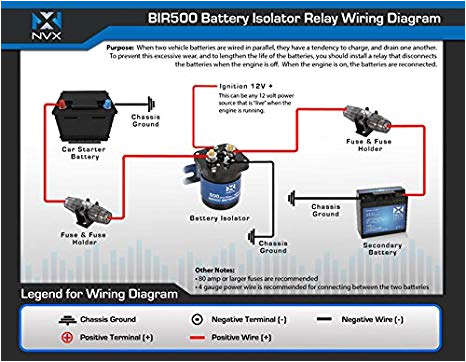 amazon com nvx 500 amp mobile audio relay battery isolator bir500 cell phones accessories