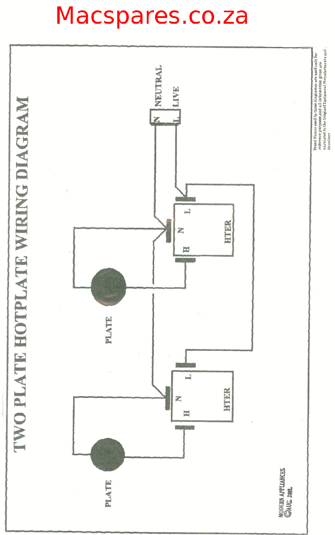 Stove Plate Wiring Diagram Wiring Diagrams Stoves Switches and thermostats Macspares
