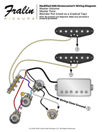 lindy fralin wiring diagrams guitar and bass wiring diagrams h s s stratocaster with gradual tap hsh stratocaster