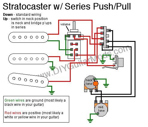sratocaster series push pull wiring diagram electric guitar mods diy guitar pedal guitar diy guitar pickups