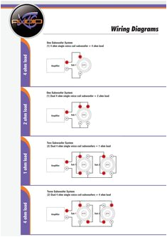 subwoofer wiring diagrams elec car audio systems car audio car mix subwoofer wiring diagrams