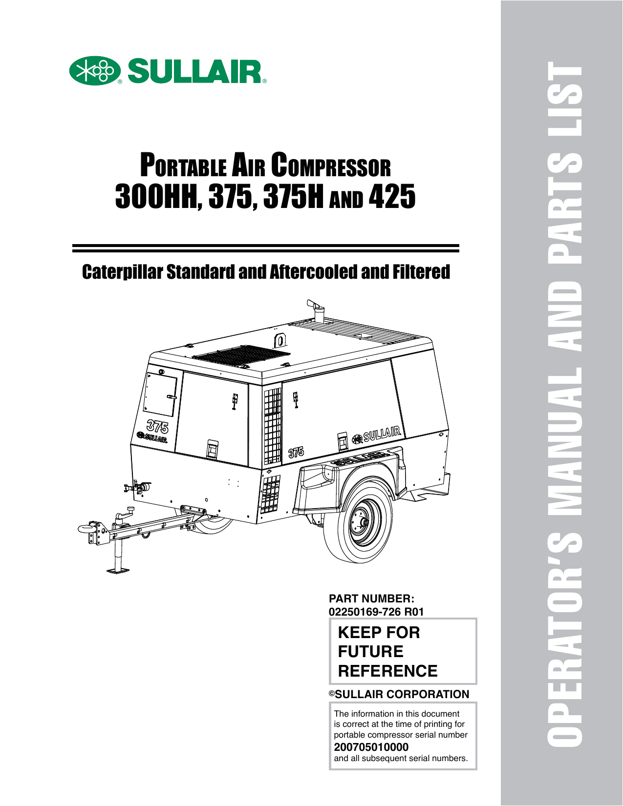operator s manual and parts list