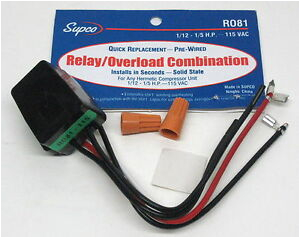 image is loading r081 supco refrigerator relay overload for1 12 1