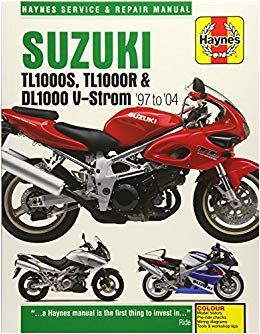 suzuki tl1000s tl1000r dl1000 v strom 97 to 04 haynes service repair manual paperback march 15 2016