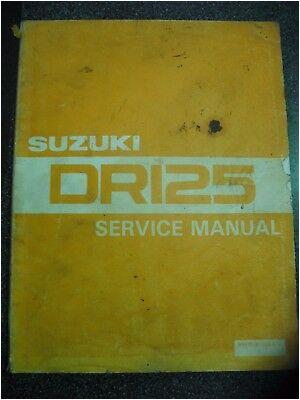 genuine suzuki dr125 1982 workshop service manual used inc wiring diagram 11