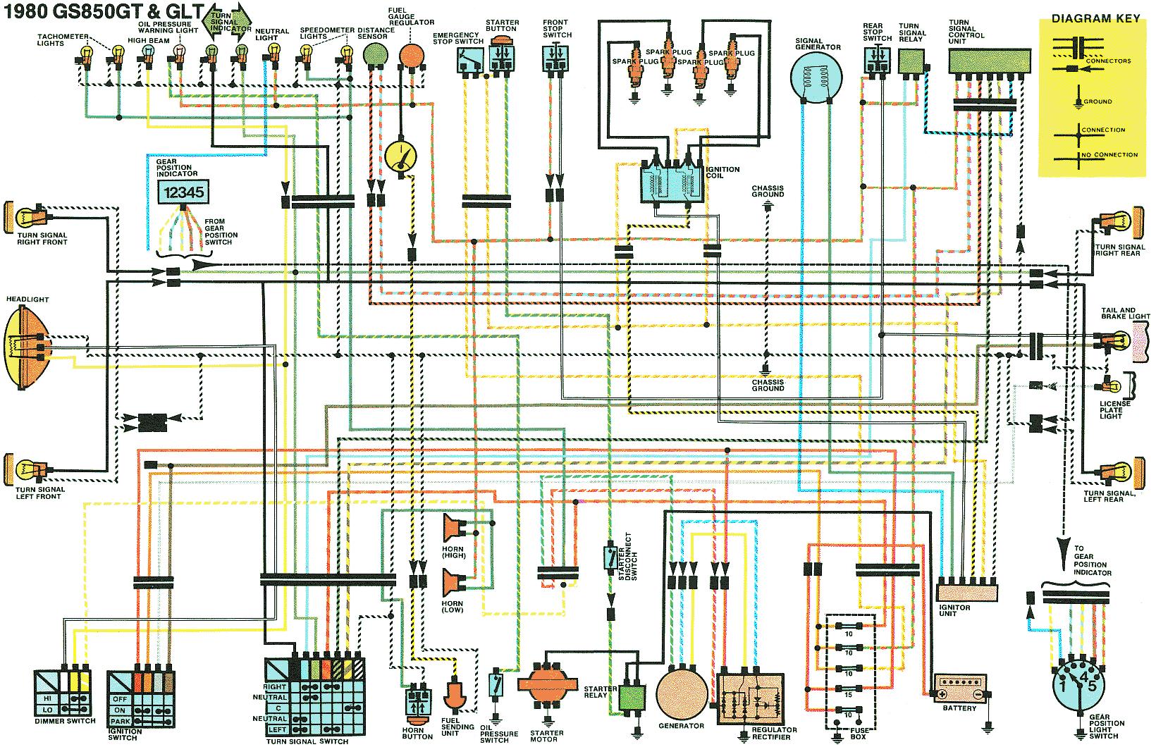 bikecliff u0027s websitea 1980 gs850g wiring diagram color