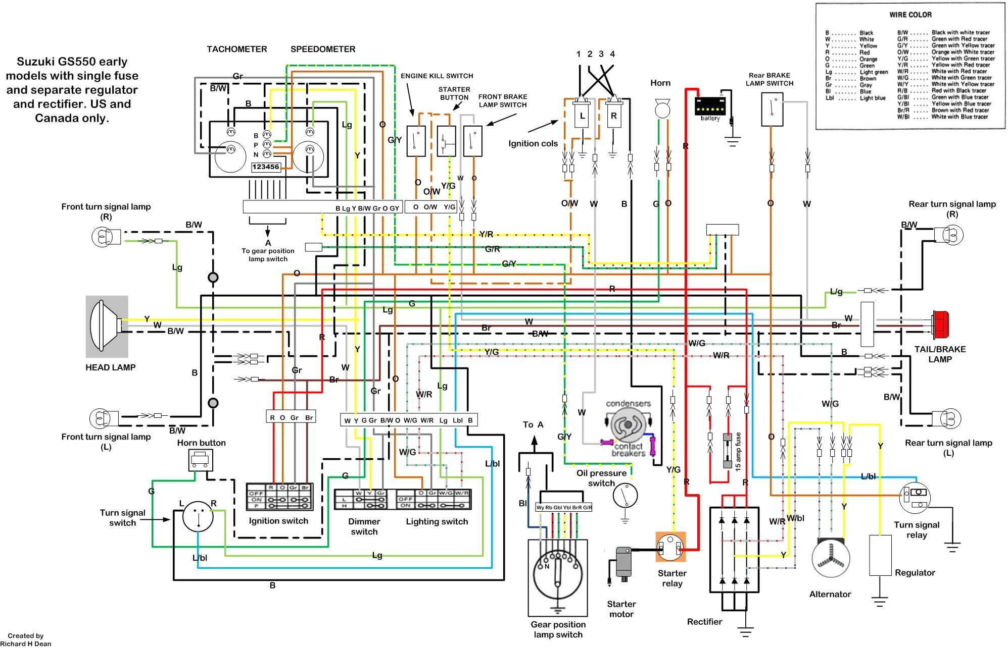 Suzuki Gs550 Wiring Diagram Gs550 Wiring Diagram Wiring Diagram