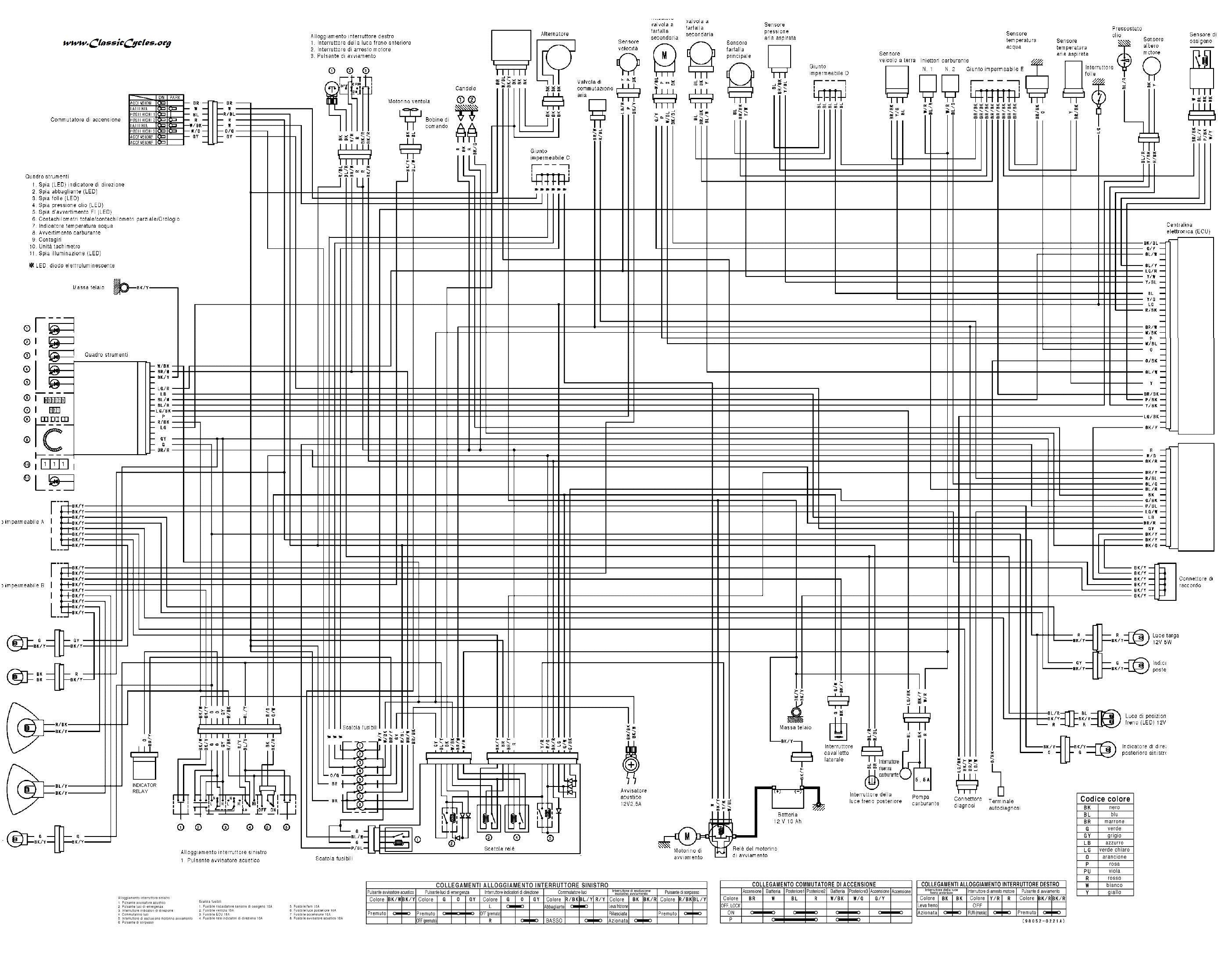 suzuki gs550 e 19771979 usa electrical schematic partsfiche wiring