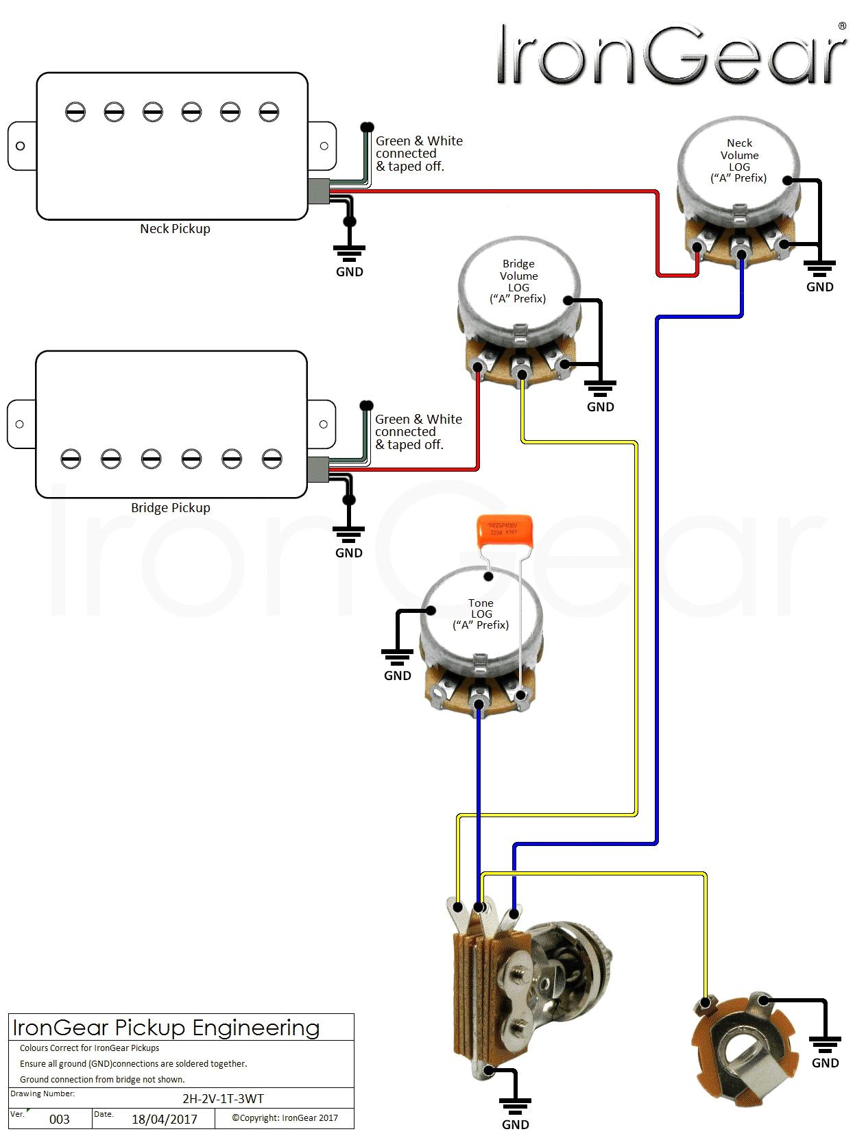 wiring diagram 2 pickup 3 way switch one volume wiring diagram schema guitar two pickup wiring diagram