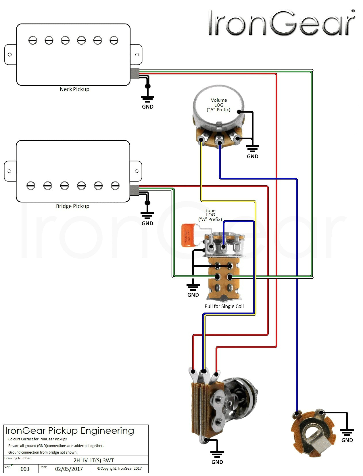 Switchcraft toggle Switch Wiring Diagram Guitar Two Pickup Wiring Diagram Wiring Diagram Blog