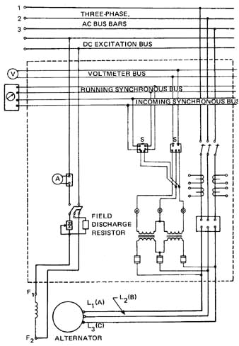 wiring for alternatorsill 7 circuit connections for voltmeter and synchroscope