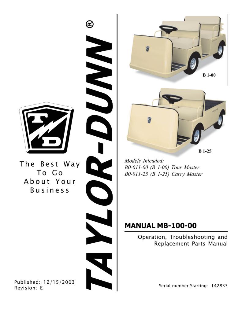 taylor dunn b 100 manual