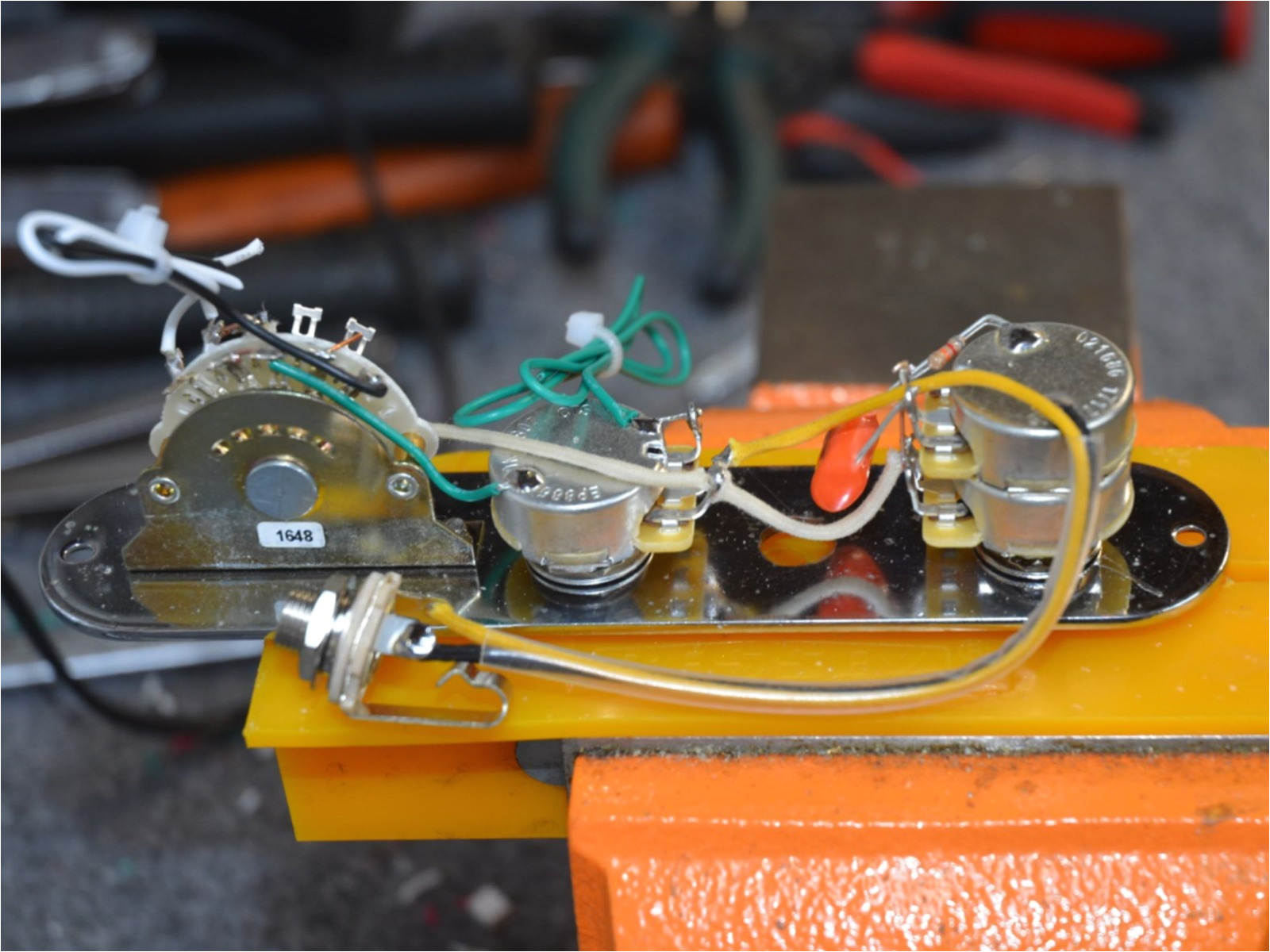 telecaster wiring harness w tbx tone control 4 way series parallel switching