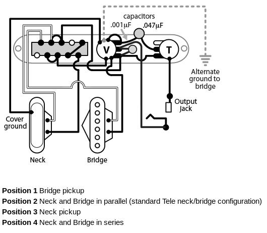 telecaster 4 way wiring
