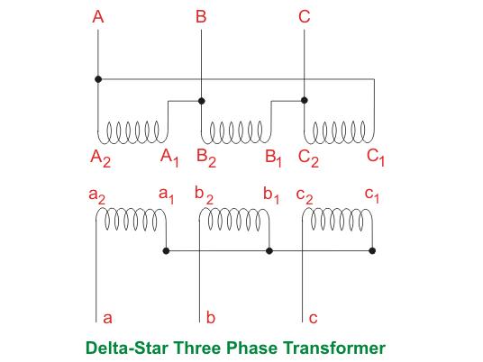 Three Phase Transformer Wiring Diagram Single Three Phase Transformer Vs Bank Of Three Single Phase