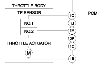 there are two throttle position sensors that act independently of each other acting as a sort of parity check the throttle actuator is actually a servo