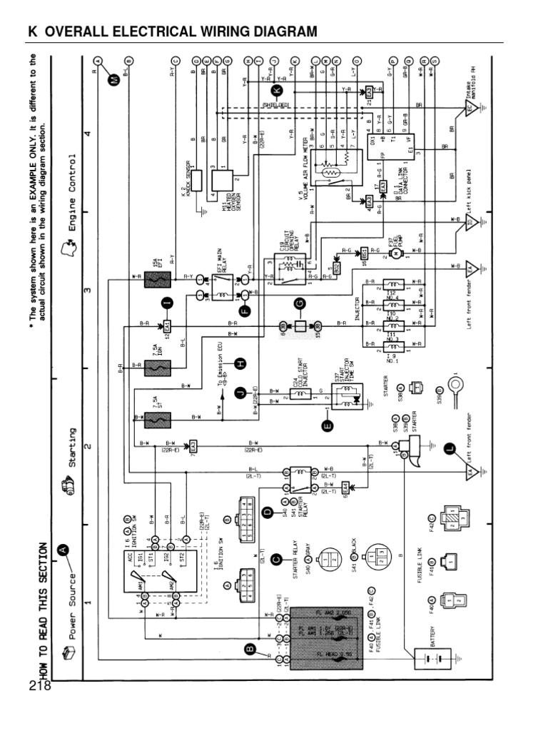 toyota coralla 1996 wiring diagram overall toyota car manufacturers of japan