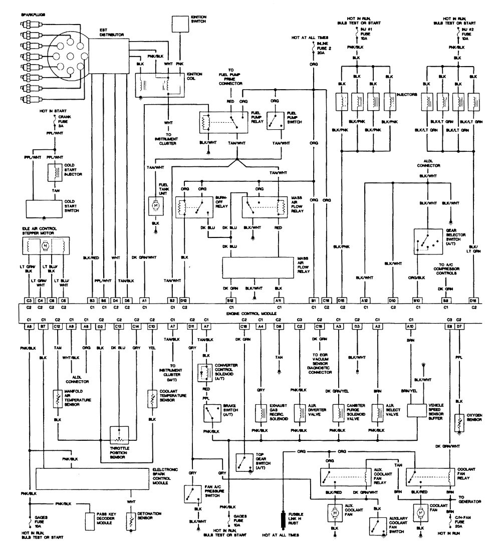 fig37 1988 5 7l tuned port injection engine wiring in tpi harness diagram
