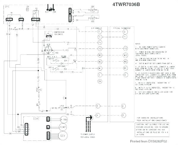 trane wiring schematic